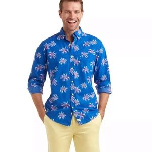 Vineyard Vines party palm slim fit Murray shirt